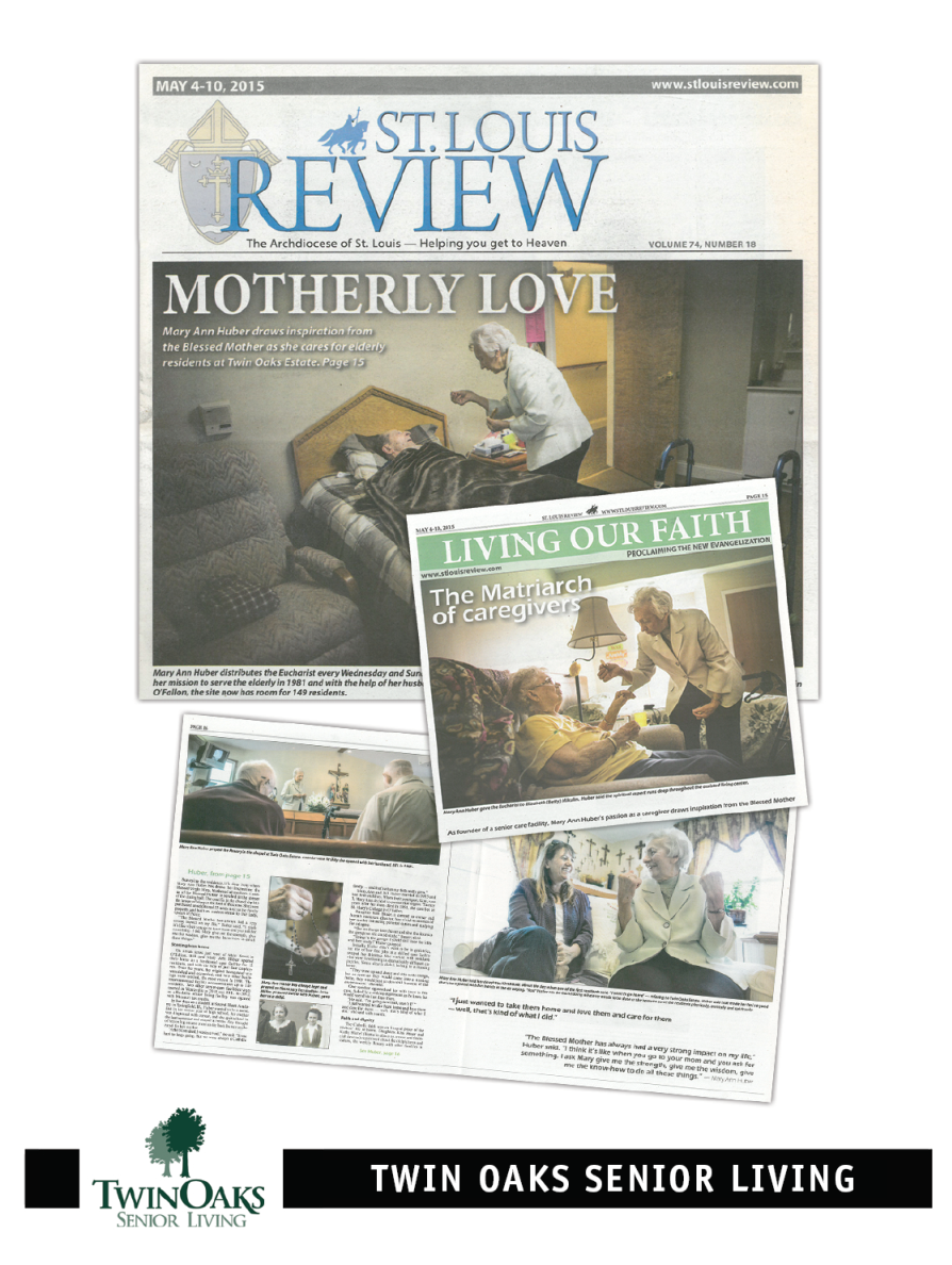 St. Louis Review feature on Twin Oaks Founder Mary Ann Huber.